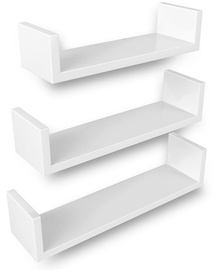 Songmics Wall Shelf White 40/35/30 3pcs