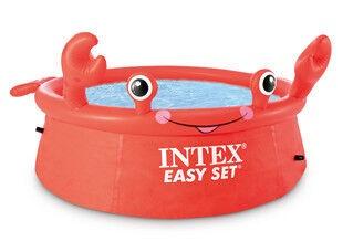 Baseins Intex Happy Crab Happy Crab, sarkana, 1830x410 mm, 878 l