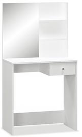Столик-косметичка VLX Chipboard 244861, белый, 75x40x141 см, с зеркалом