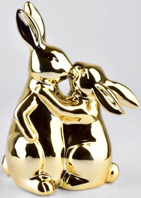 Mondex Lila Hare Figure Gold 15x10x24cm