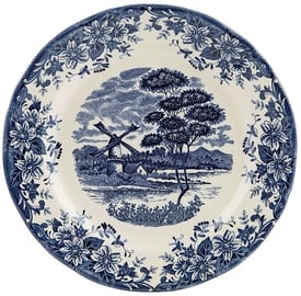 Claytan Windmill Dinner Plate 26cm Blue