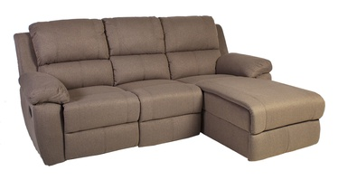 Stūra dīvāns Home4you Berkley Beige, labais, 216 x 165 x 100 cm