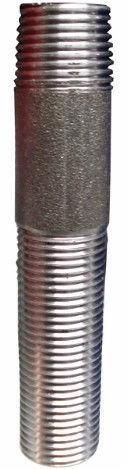 "Raccorfer Steel Long Thread Black 1 1/2"" 140mm"
