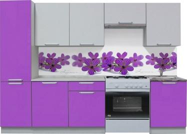 Virtuves komplekts MN Simpl Violet/White, 2.5 m