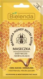 Sejas maska Bielenda Manuka Honey Nourishing & Moisturizing Face Mask, 8 g