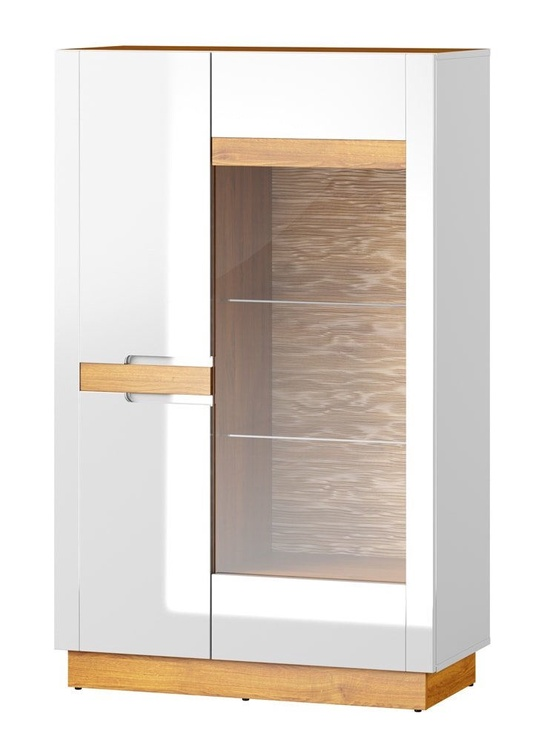 Szynaka Meble Visio 15 Display Cabinet White/Camargue Oak