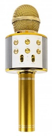 Золотой микрофон караоке - динамик с эффектами изменения голоса