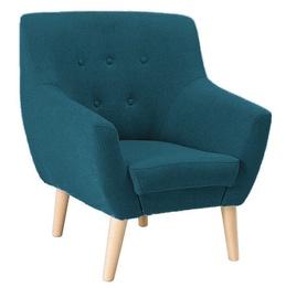 Atzveltnes krēsls Signal Meble Nordic 1 Cablo 09 Marine Blue, 76x75x90 cm