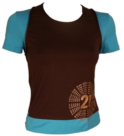 Bars Womens T-Shirt Brown/Blue 137 S