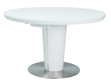 Обеденный стол Signal Meble Orbit White, 1200x1200x760 мм
