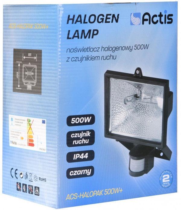 Prožektors Actis ACS Halopak Floodlight Black 500W Plus