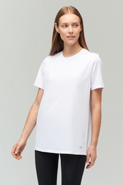 Audimas Long Silhouette Functional T-Shirt White M