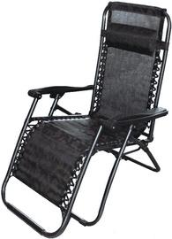 Шезлонг Besk, коричневый/черный, 177 см x 61 см x 110 см
