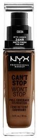 Tonizējošais krēms NYX Can't Stop Won't Stop CSWSF21 Cocoa, 30 ml