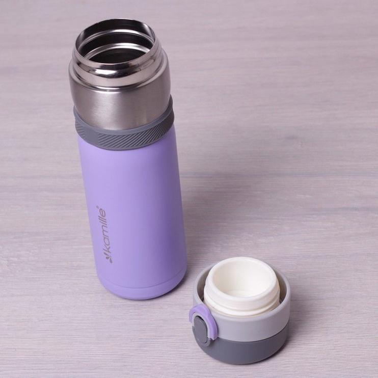 Kamille Vacuum Flask 400ml Purple KM2014