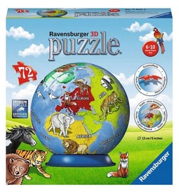 3D mīkla Ravensburger Ball Childrens Globe 11840, 72 gab.