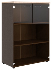 Skyland Xten XMC 85.2 Office Cabinet w/ Glass Door Tiara Beech/Legno Dark