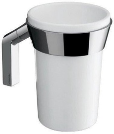 Gedy Karma Toothbrush Holder Chrome/White 3510-02