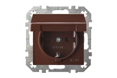 Kontaktdakšiņu savienotājs Liregus Epsilon IKL16-408-01 E/R, IP44, brūna
