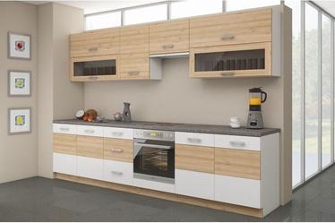 Virtuves komplekts Stolarz-Lempert Iconic White/Beech, 2.6 m