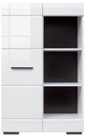 Black Red White Bookshelf Fever RED1D/12/8 White/Black
