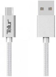 Tellur Nylon Braided USB To Micro USB Cable 1m Silver