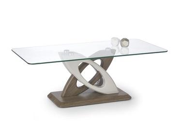 Kafijas galdiņš Halmar Sunny Dark Oak/White, 1270x660x440 mm