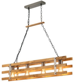 Gaismeklis Trio Khan Pendant Lamp 4xE27 Wood