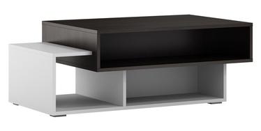 Kafijas galdiņš Szynaka Meble Arend Wenge/White, 1050x600x390 mm