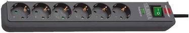 Brennenstuhl Power Cord Eco-Line 6x 1.5m Anthracite