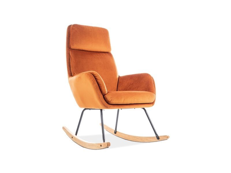 Atzveltnes krēsls Signal Meble Hoover, oranža, 70x49x106 cm