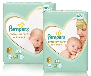 Pampers Premium Care S1 78pcs S2 68pcs