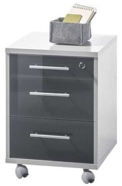 Black Red White Chest Of Drawers Office Lux Light Grey/Graphite