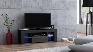 ТВ стол Pro Meble Milano 110 Black/Grey, 1100x350x450 мм