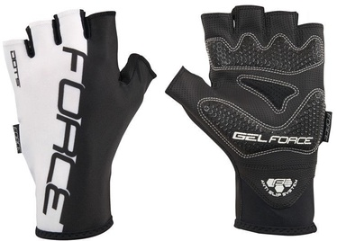 Force Dots Short Gloves Black White L