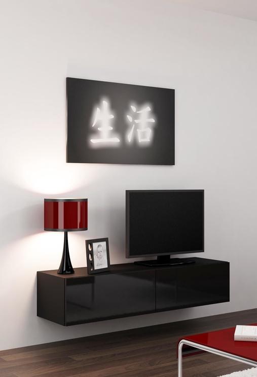 ТВ стол Cama Meble Vigo 140, черный, 1400x300x400 мм