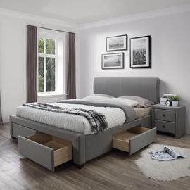 Gulta Halmar Modena Grey, 220x144 cm, ar režģi