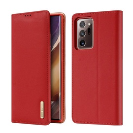 Dux Ducis Wish Bookcase For Samsung Galaxy Note 20 Ultra Red