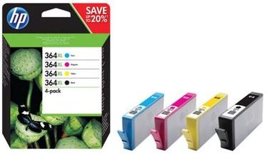 HP 364XL CMYK Ink Cartridge Combo Black Yellow Cyan Magenta