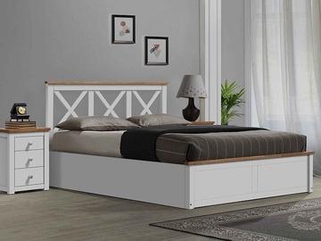 Signal Meble Orleans Bed 160x200cm White/Oak