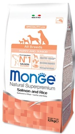Сухой корм для собак Monge Speciality Line Puppy Salmon & Rice 2.5kg