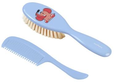 BabyOno Super Soft Hair Brush Set Blue