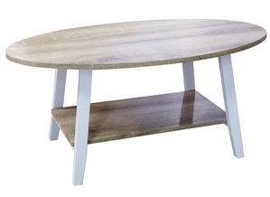Kafijas galdiņš Verners Jacob Oak White, 1000x600x450 mm