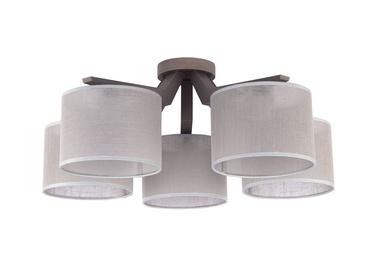 Gaismeklis TK Lighting Dove 1765 5X60W E27 Grey/Brown