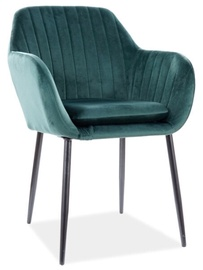 Atzveltnes krēsls Signal Meble Venus Velvet, zaļa, 57 cm x 40 cm x 82 cm