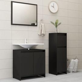 Vannas istabas mēbeļu komplekts VLX 3056926, melna, 30 x 30 cm x 95 cm