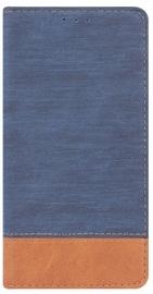Blun Soft Touch Book Case For Samsung Galaxy A3 A320F Blue