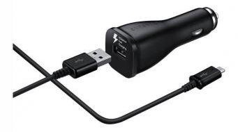 Samsung USB Auto Quick Charger With Micro USB Cable Black OEM