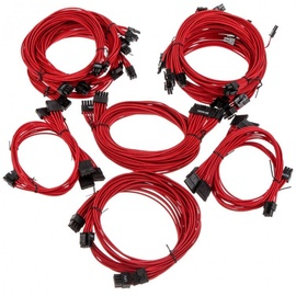 Super Flower Sleeve Cable Kit Pro Red