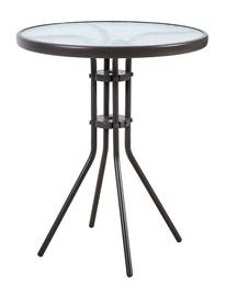 Садовый стол Home4you Dublin 11928, коричневый, 60 x 60 x 70 см